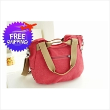 Korean Fashion Women Lady Canvas Outdoor Shoulder Handbag Travel Bag
