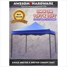 CANOPY EASY POP UP TENT 3METERX3METER KHEMAH KANOPI BLACK COATED FRAME