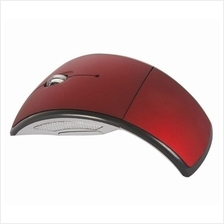 2.4GHz Wireless Folding Arc Mouse - Red