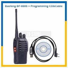 BaoFeng BF-888S 16Channel Walkie Talkie + USB Programming Cable and CD