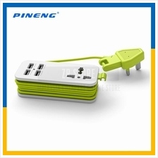 PINENG PN-333 PN333 UK Extension Socket with 4 USB Ports