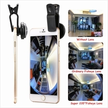 235º Universal Mobile Phone Camera Lens Fish-Eye Wide Angle