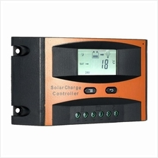 25A 12V/24V Solar Charge Controller PWM Charging LCD Display