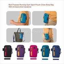 Running Gym Sports Pouch Cross Body Bag With Armband And Carabiner