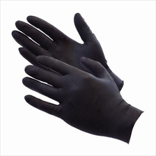 100 Nitrile Disposable Powder-Free Medical Exam (Latex Free) Gloves 5 Mil Blac