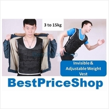 Invisible Adjustable Thin Weight Vest Jacket Jogging Hiking Slimming