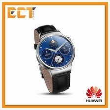 Huawei Stainless Steel Case with Genuine Leather Strap Smart Watch