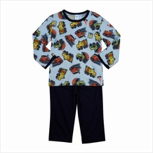 Iggi Boy''s Long Sleeve Pyjamas With Colourful Tractor Print