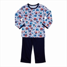 Iggi Boy''s Long Sleeve Pyjamas With Tractor Print