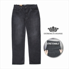 EXTREMA Enzyme Wash Stretchable Black Jeans EXJ6031