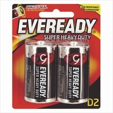 EVEREADY Super Heavy Duty D Carbon Zinc Batteries - D Size - 2 Pack (Item No: