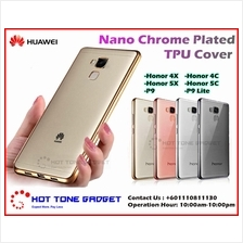 Honor 4C 4X 5C 5X 6X 4A 5A P9 8 Lite Nano Chrome Plated TPU Cover