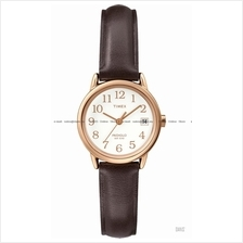TIMEX T2P564 (W) Classic Easy Reader Date Pair leather white brown