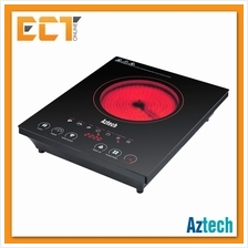 Aztech IFC300 Black Ceramic Plate Infrared Cooker with 6 Cooking Functions