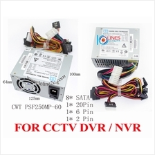 CWT PSF250MP-60 250W Power supply 8*SATA NVR DVR HIK Vision Dahua ATX CCTV Rec