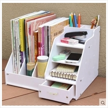 DIY Multipurpose Home & Office Stationery Storage Box Desktop Bookcase