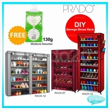 Prado Home Korean Quality Shoe Rack DIY Stackable Dust Cover Cabinet