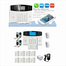 Wireless GSM SMS Intelligent Home Alarm System Kit LCD Display Remote
