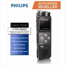 PHILIPS VTR6900 Digital Voice Recorder 8GB With Linear PCM Recording