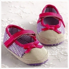 Kids / Baby/ Bayi Shoes/Kasut ( Purple/Pink) for ages 1M - 12M