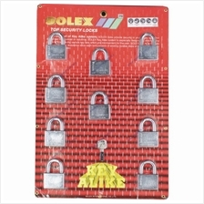 SOLEX Premium R-CR Padlock 10:1 Key Alike 40mm - 50mm (CHROME) 10 in 1