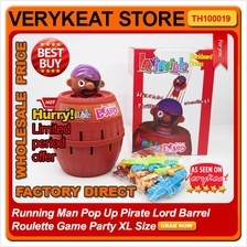 Running Man Pop Up Pirate Lord Barrel Roulette Game Party XL Size
