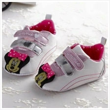 Kids / Baby/ Bayi Shoes/Kasut for ages 1M - 12M (White Minnie)
