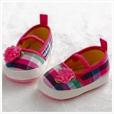 Kids / Baby/ Bayi Shoes/Kasut for ages 1M - 12M (Rainbow)