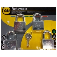 YALE Y118D/50/127/4 Chrome Plated Rekeyable Keyed Alike System Padlock