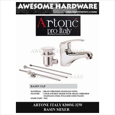ARTONE ITALY 8200M-32W BASIN MIXER TAP WITH WASTE HOT AND COLD