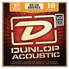 Dunlop DAB1048 Acoustic Guitar String -BRASS EXTRA LIGHT 10-48