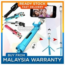 3 in 1 Built in Bluetooth Selfie Stick Monopod Tripod for Smartphone
