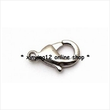 Lobster Clasp 12mm - Silver Tone(10 Pcs)
