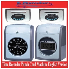 Employee Time Recorder Punch Card Machine Analogue Digital English Ver