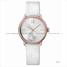 Calvin Klein K2Y236K6 Women's Accent Small-second Leather White Rose