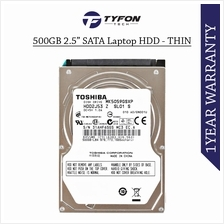 """Mix Branded 500GB 2.5 """" SATA Laptop Hard Disk Drive - Thin Size (Used)"""
