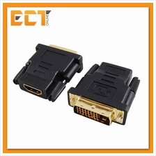 Gold-Plated DVI Male to HDMI Female Converter For HDTV LCD