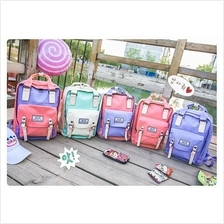 Pre-order: Women Lady Girl Sweet Colorful Canvas Backpack