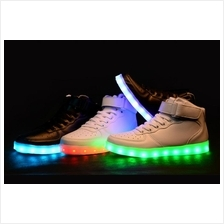 New High-Cut Shoes  Charging Led Shoes Couple Shoes