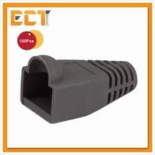 100 Pcs RJ45 Network Cable Lead Connector Cover Cap Boot - Grey