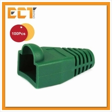 100 Pcs RJ45 Network Cable Lead Connector Cover Cap Boot - Green