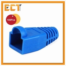 100 Pcs RJ45 Network Cable Lead Connector Cover Cap Boot - Blue