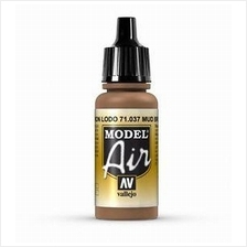 Vallejo Paint - Model Air 71037 Mud Brown (17ml)