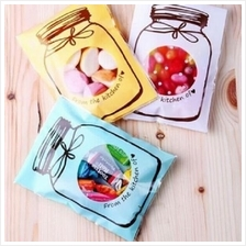 Cute Candy Plastic Bags  (Self-adhesive) 100pcs