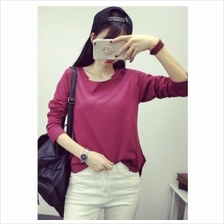 [PM3-6319DP] Women Casual Top Dark Purple