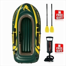 INTEX SEAHAWK INFLATABLE BOAT SET 1/2/3/4 PERSON FISHING EMERGENCY USE