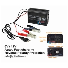 Suoer SON-10A Digital Display 10A 12V Reverse Protection Battery Charger Lead-