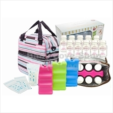Autumnz Posh Cooler Bag + Contoured Ice Brick + Storage Bottle Bundle