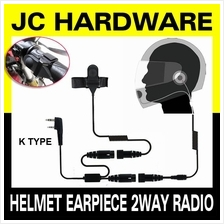 Helmet Motorcycle Bike Headset Earpiece for Walkie Talkie 2pin K-type