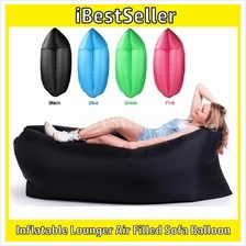 Double Layer Fast Inflatable Sofa Lounger Air Sleeping Bag Camping Bed